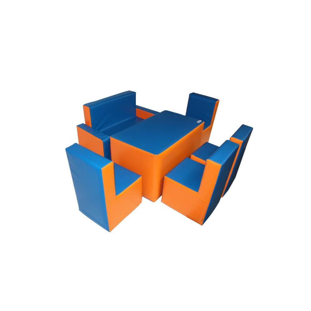 """Комплект м'яких ігрових дитячих меблів """"Гостинка"""" Kidigo"""