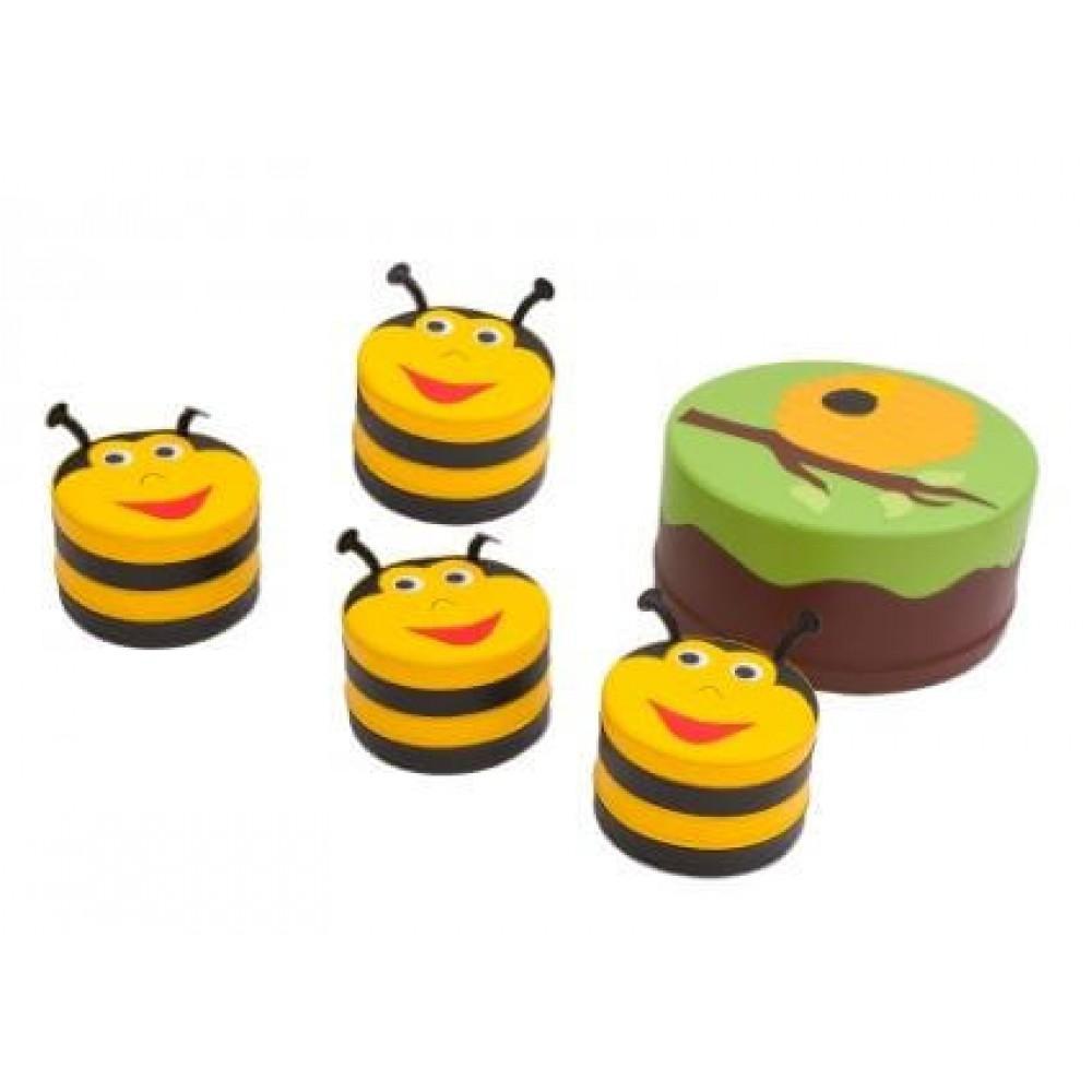 """Набір м'яких ігрових меблів """"Бджілка"""" Kidigo Premium"""