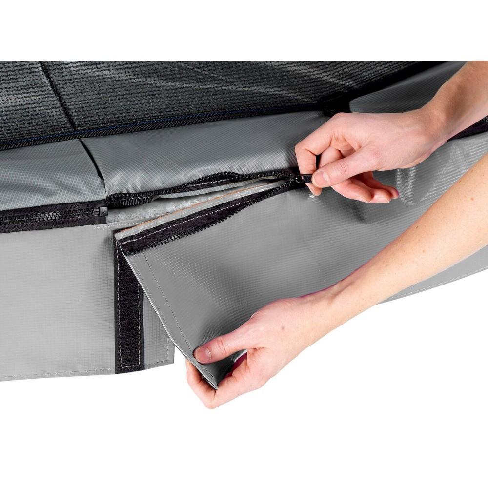 Батут Exit Elegant Premium Grey 244x427 см з сіткою Deluxe
