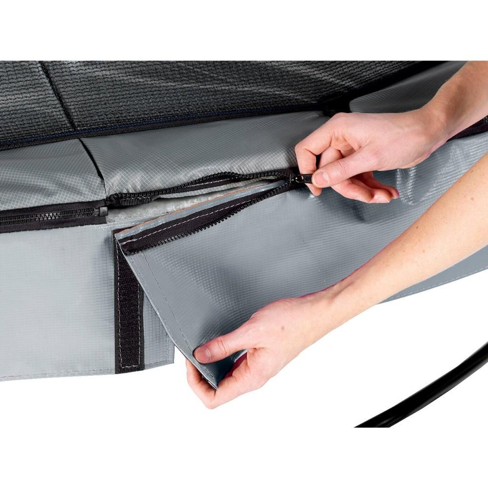 Батут Exit Elegant Premium Grey 427 см з сіткою Deluxe