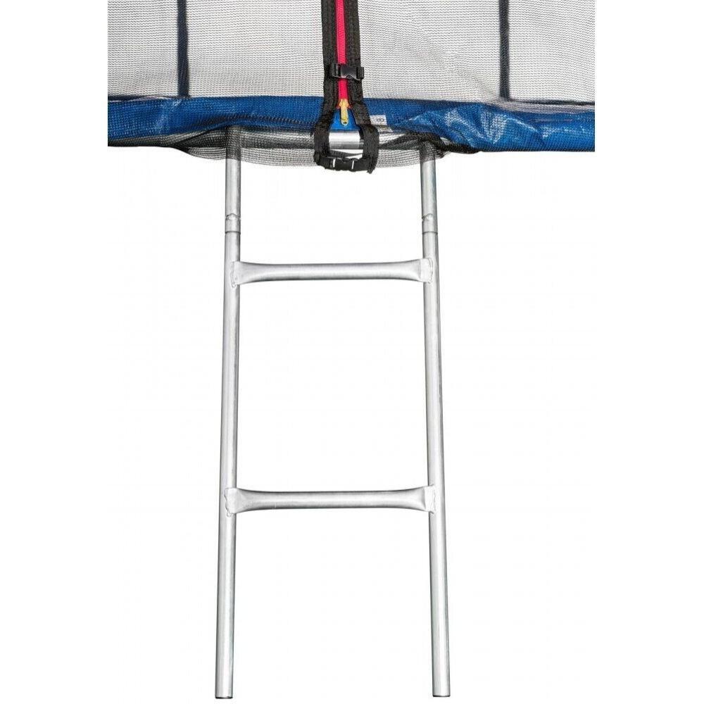 Батут Atleto Blue 465 см с внешней сеткой и лестницей