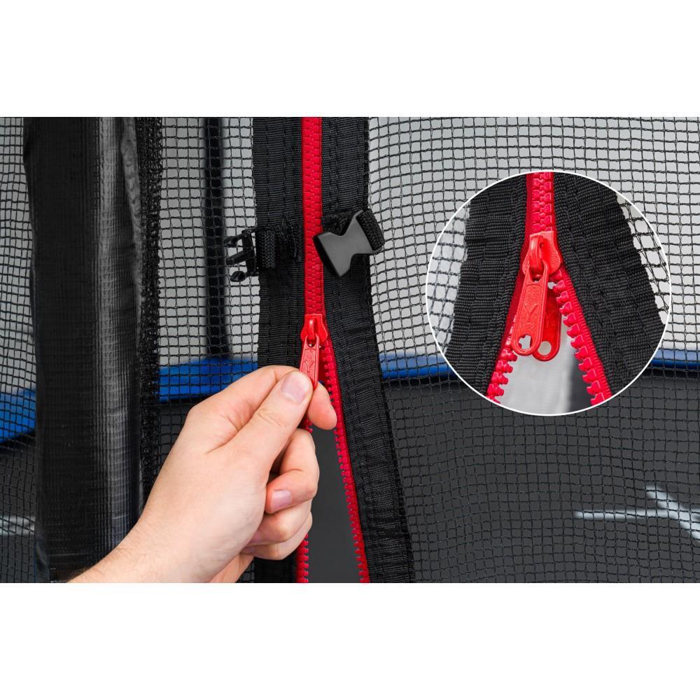 Батут Hop-Sport Black/Blue 305 см з внутрішньою сіткою і драбинкою