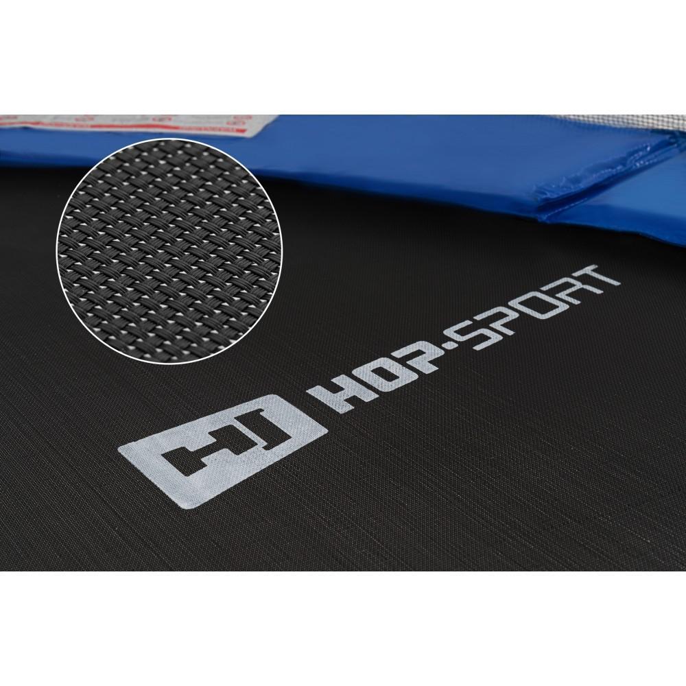 Батут Hop-Sport Black/Blue 488 см з внутрішньою сіткою і драбинкою