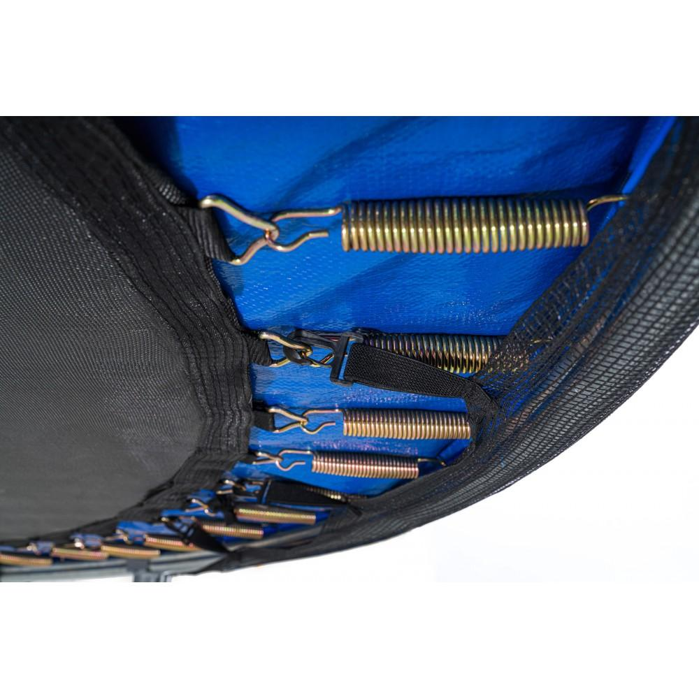 Батут Hop-Sport Black/Blue 366 см з зовнішньою сіткою і драбинкою