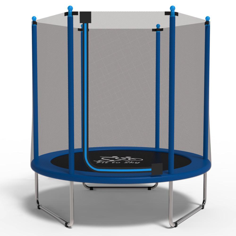 Батут з сіткою FitToSky 152 см Blue