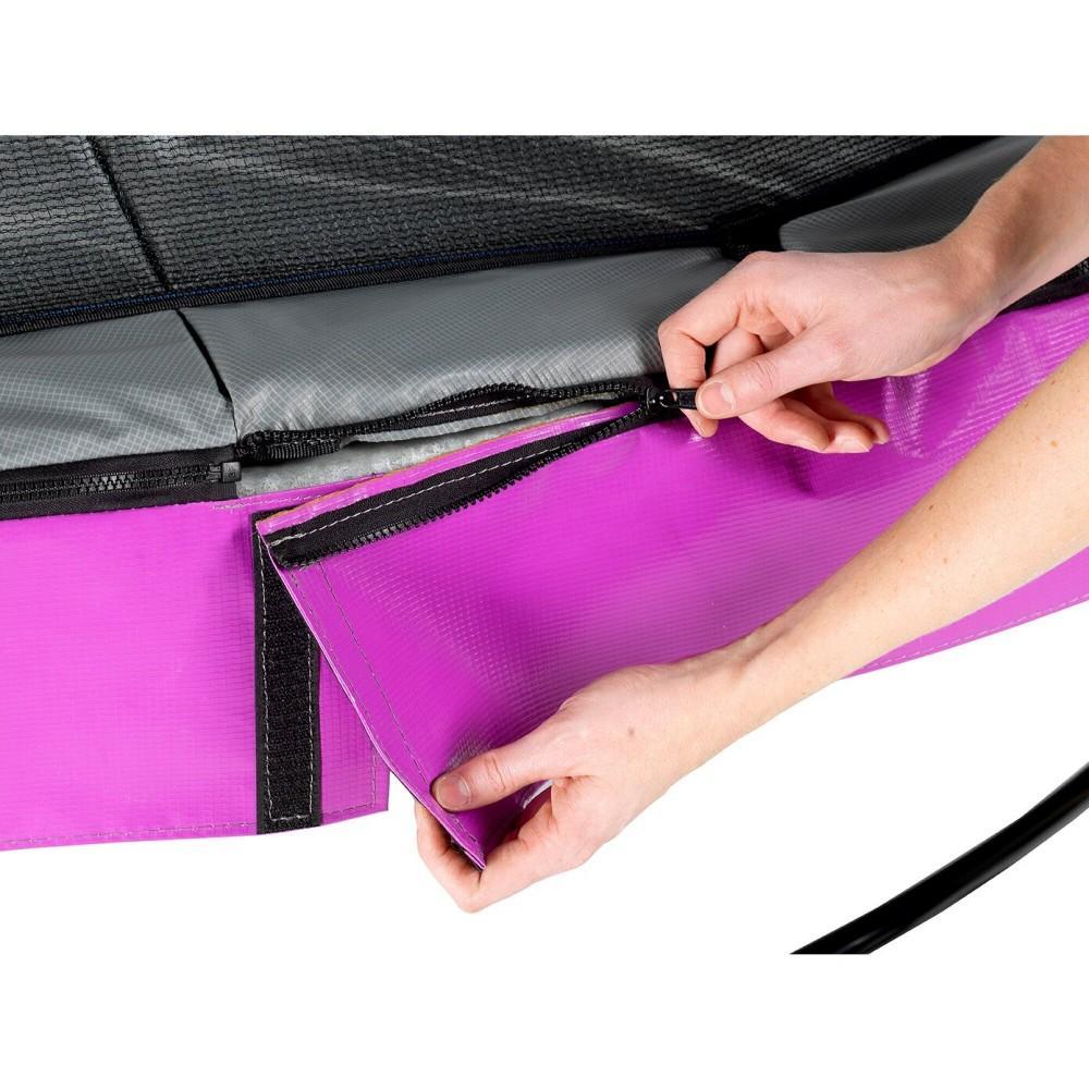 Батут Exit Elegant Premium Purple 305 см з сіткою Deluxe