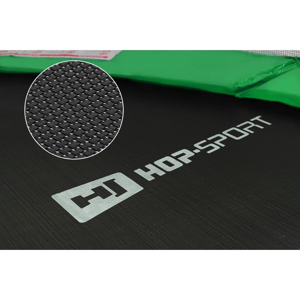 Батут Hop-Sport Green 488 см з внутрішньою сіткою і драбинкою