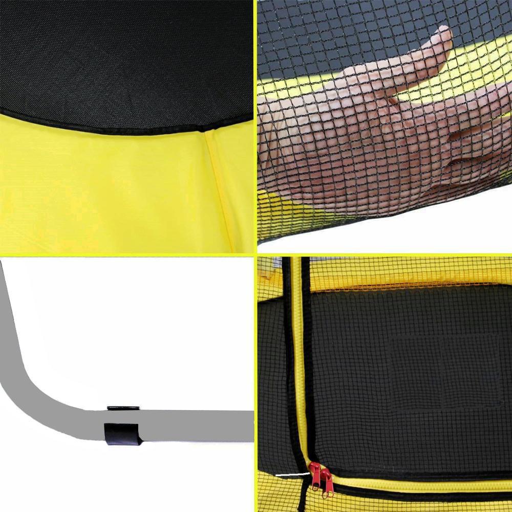 Батут Atleto Yellow 152 см з сіткою