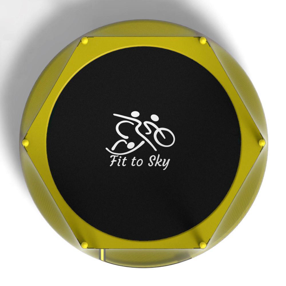 Батут з сіткою FitToSky 152 см Yellow