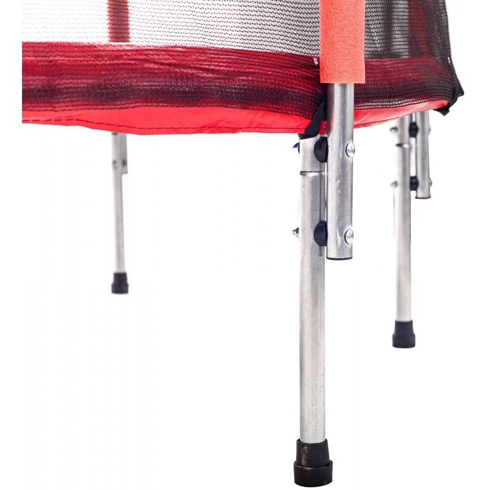 Батут Atleto Red 140 см з сіткою