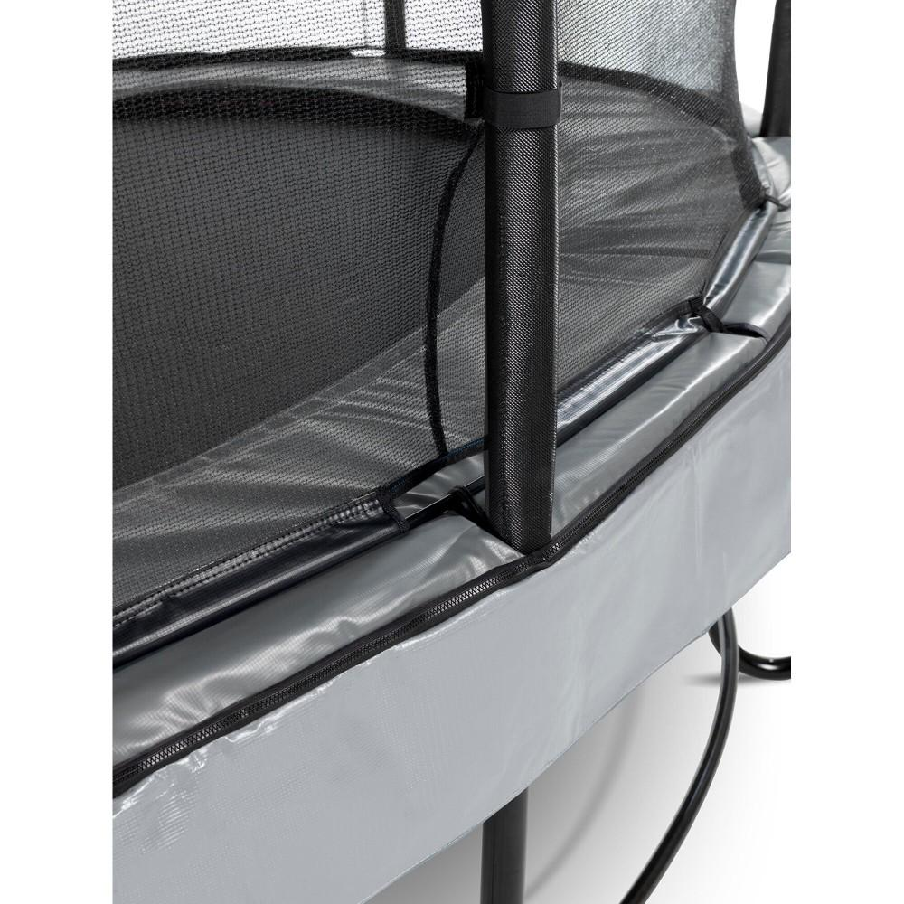 Батут Exit Elegant Premium Grey 366 см з сіткою Deluxe
