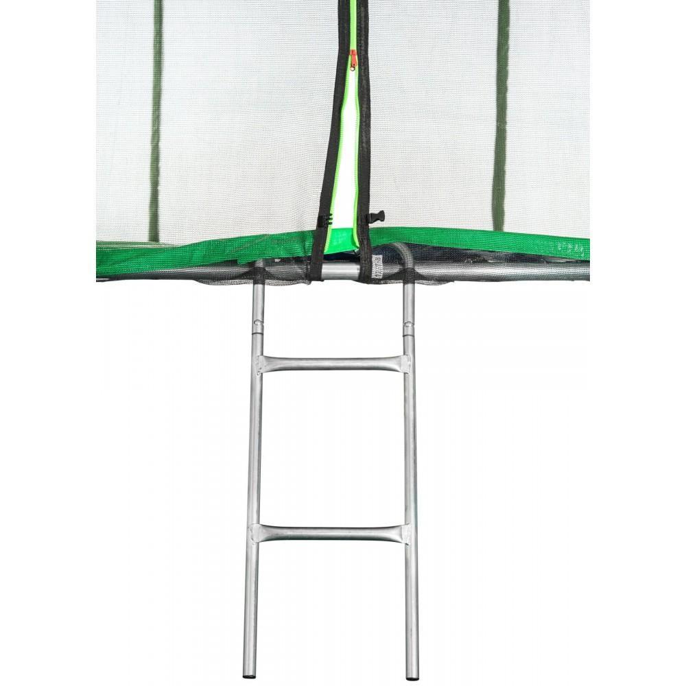 Батут Atleto Green 404 см з зовнішньою сіткою і драбинкою