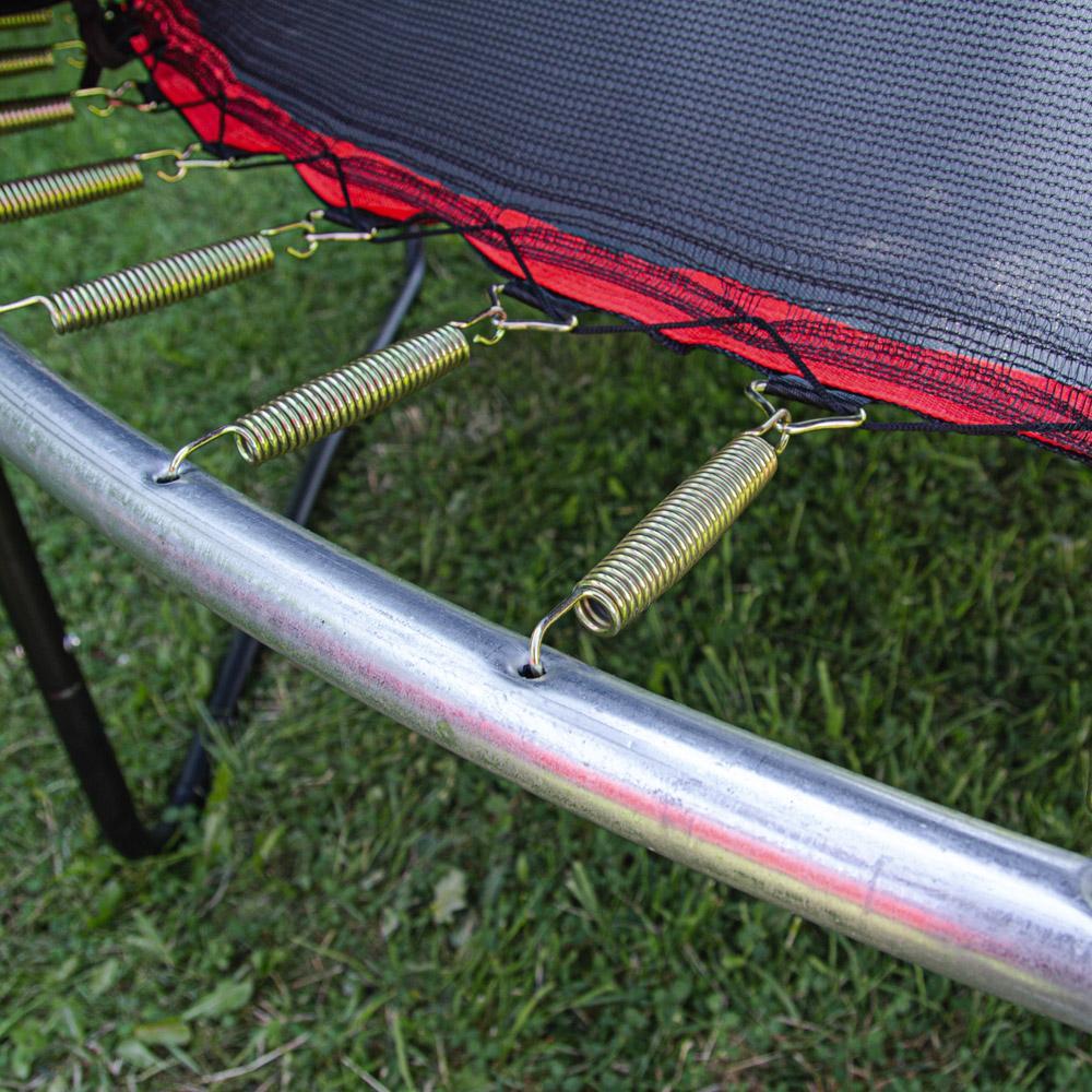 Батут inSPORTline Flea 305 см з сіткою і драбинкою