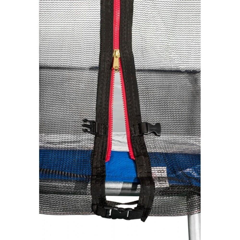 Батут Atleto Blue 404 см з зовнішньої сіткою і драбинкою