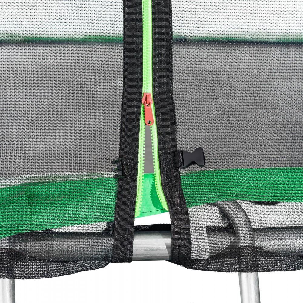 Батут Atleto Green 435 см з зовнішньою сіткою і драбинкою