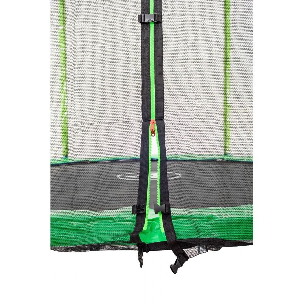 Батут Atleto Green 252 см з зовнішньою сіткою і драбинкою
