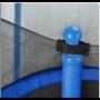 Батут Atleto Blue 152 см з сіткою