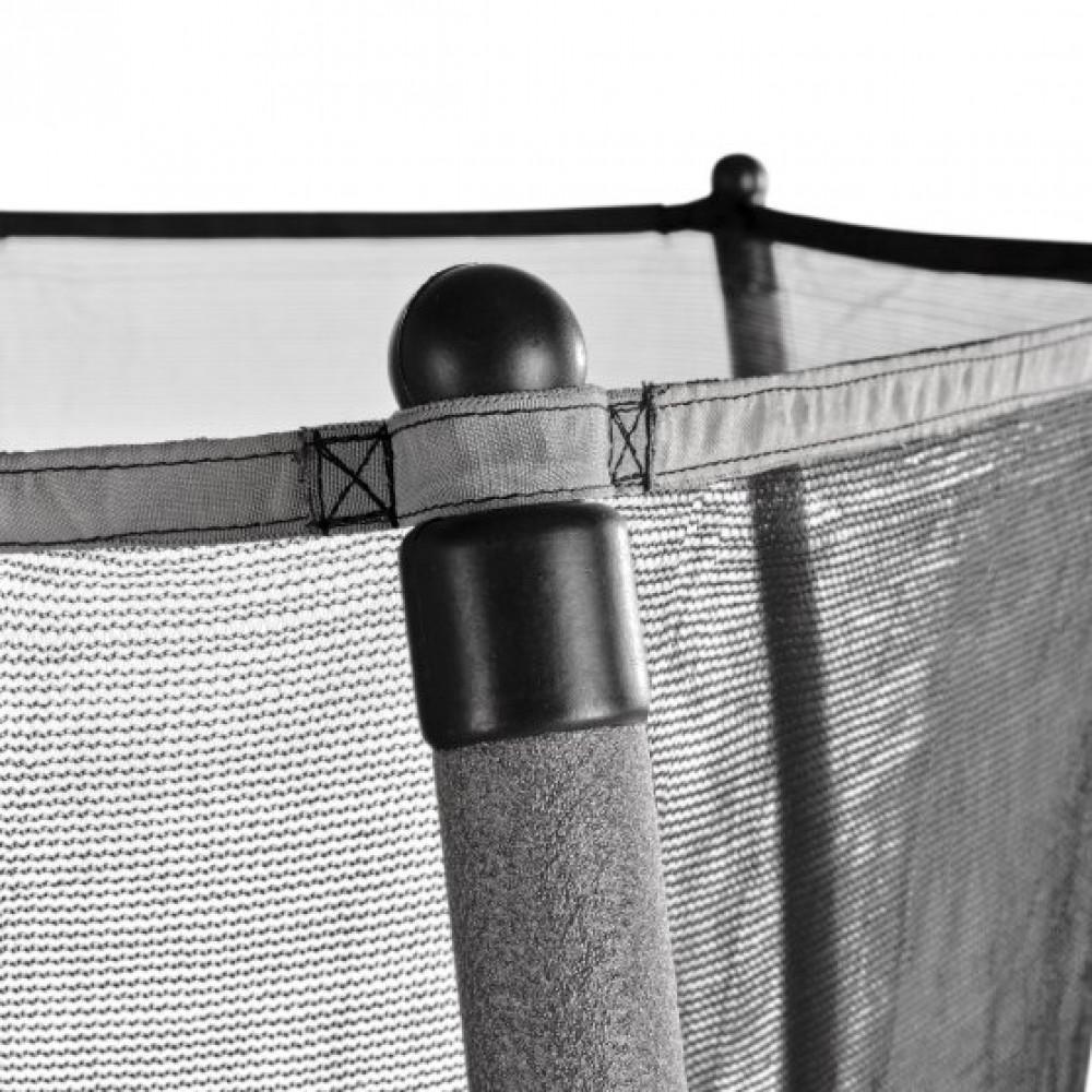 Батут Exit Tiggy Black/Grey 140 см з сіткою