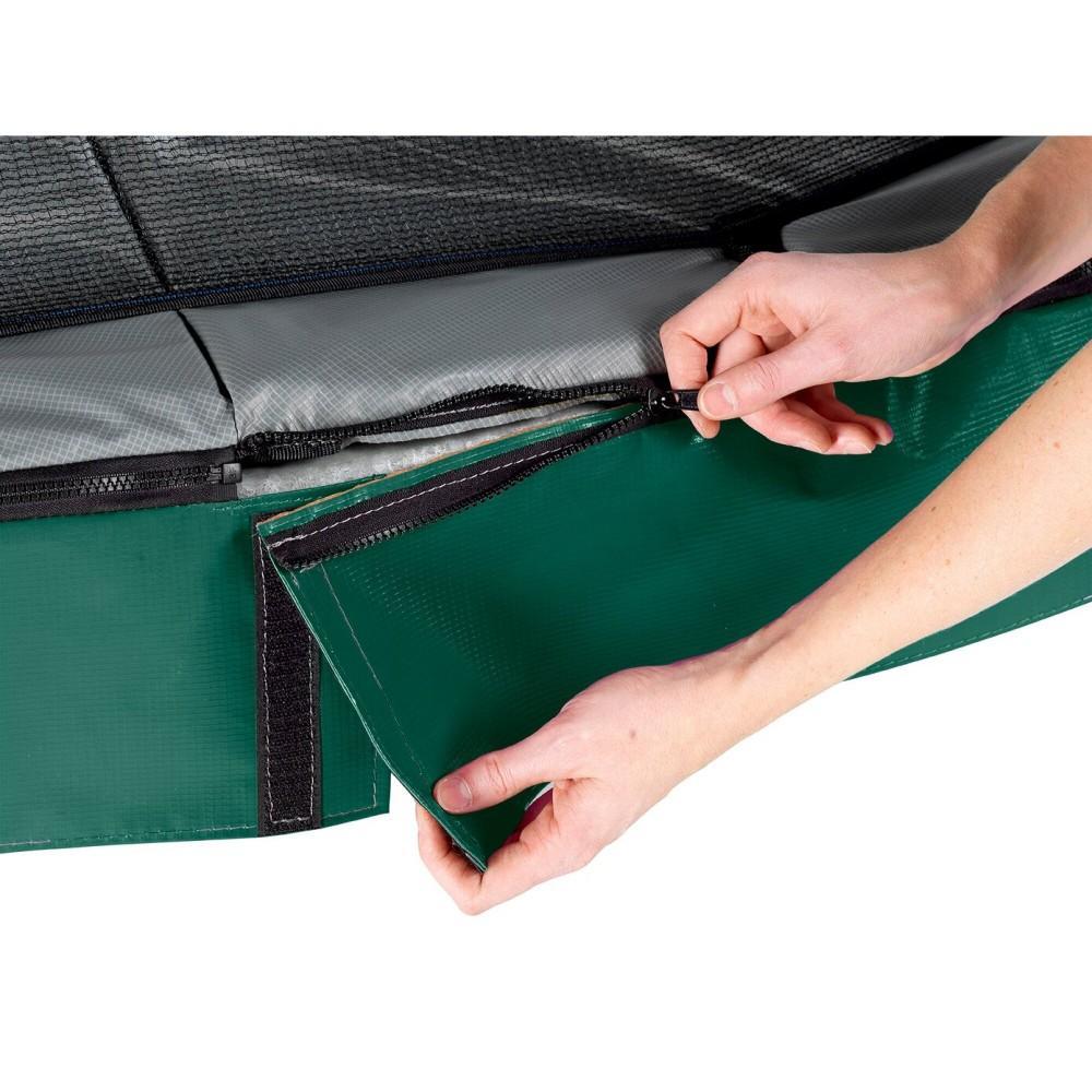 Батут Exit Elegant Premium Green 244x427 см з сіткою Deluxe