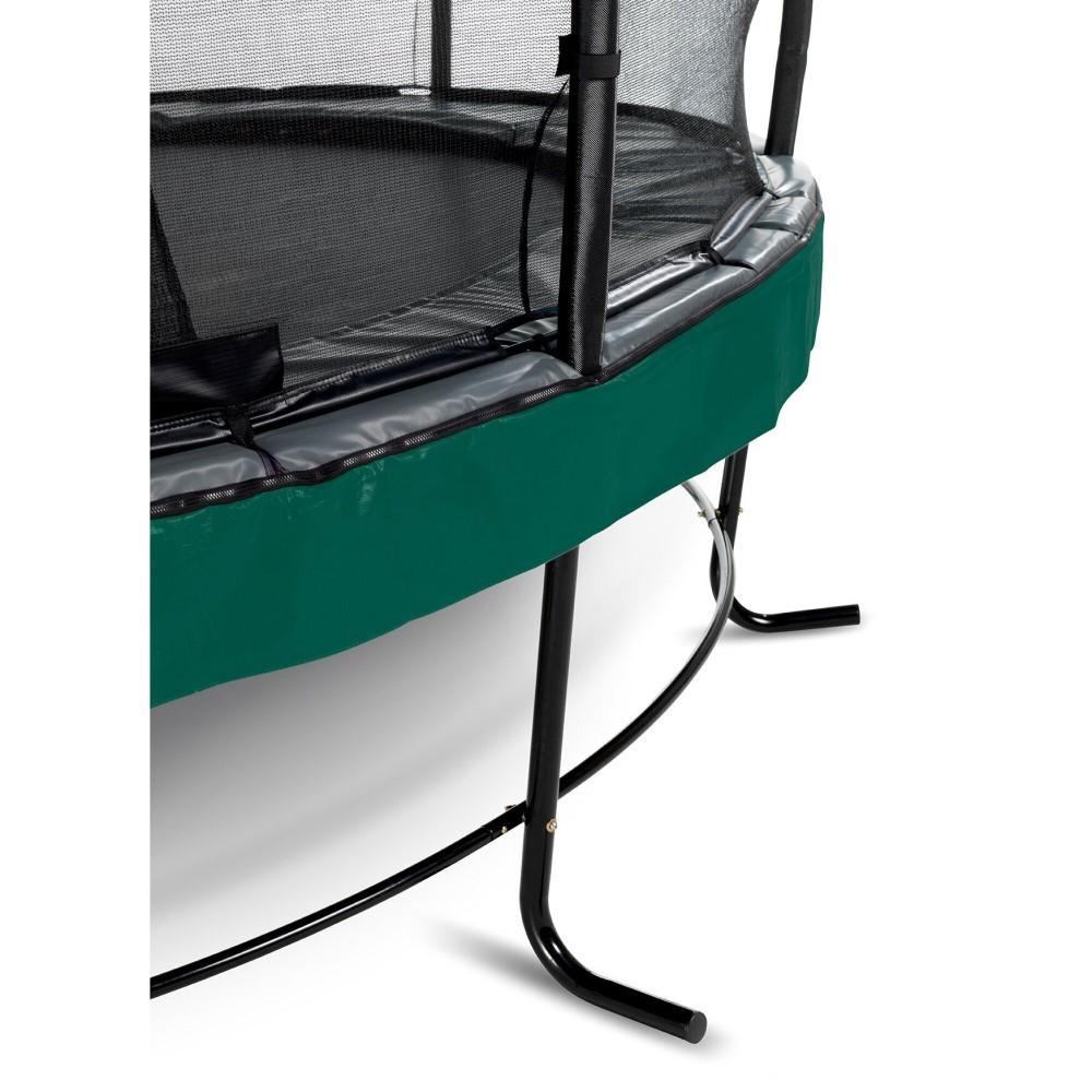 Батут Exit Elegant Premium Green 427 см з сіткою Deluxe