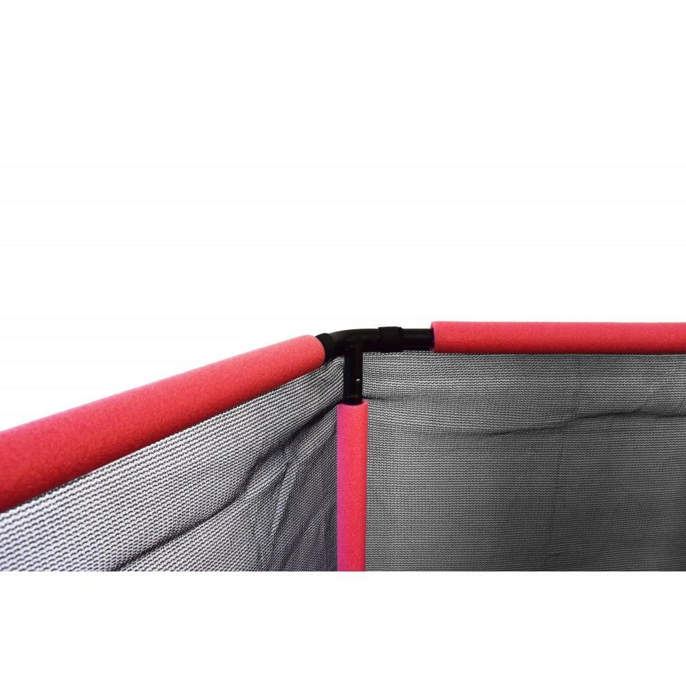 Батут шестикутний Atleto Red 140 см з сіткою