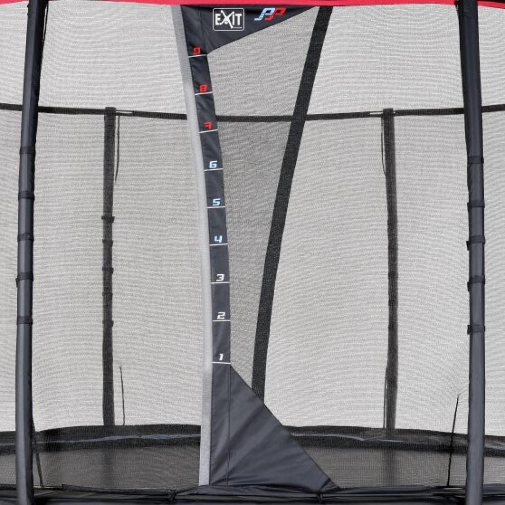 Батут Exit Peak Pro 366 см з сіткою і драбинкою