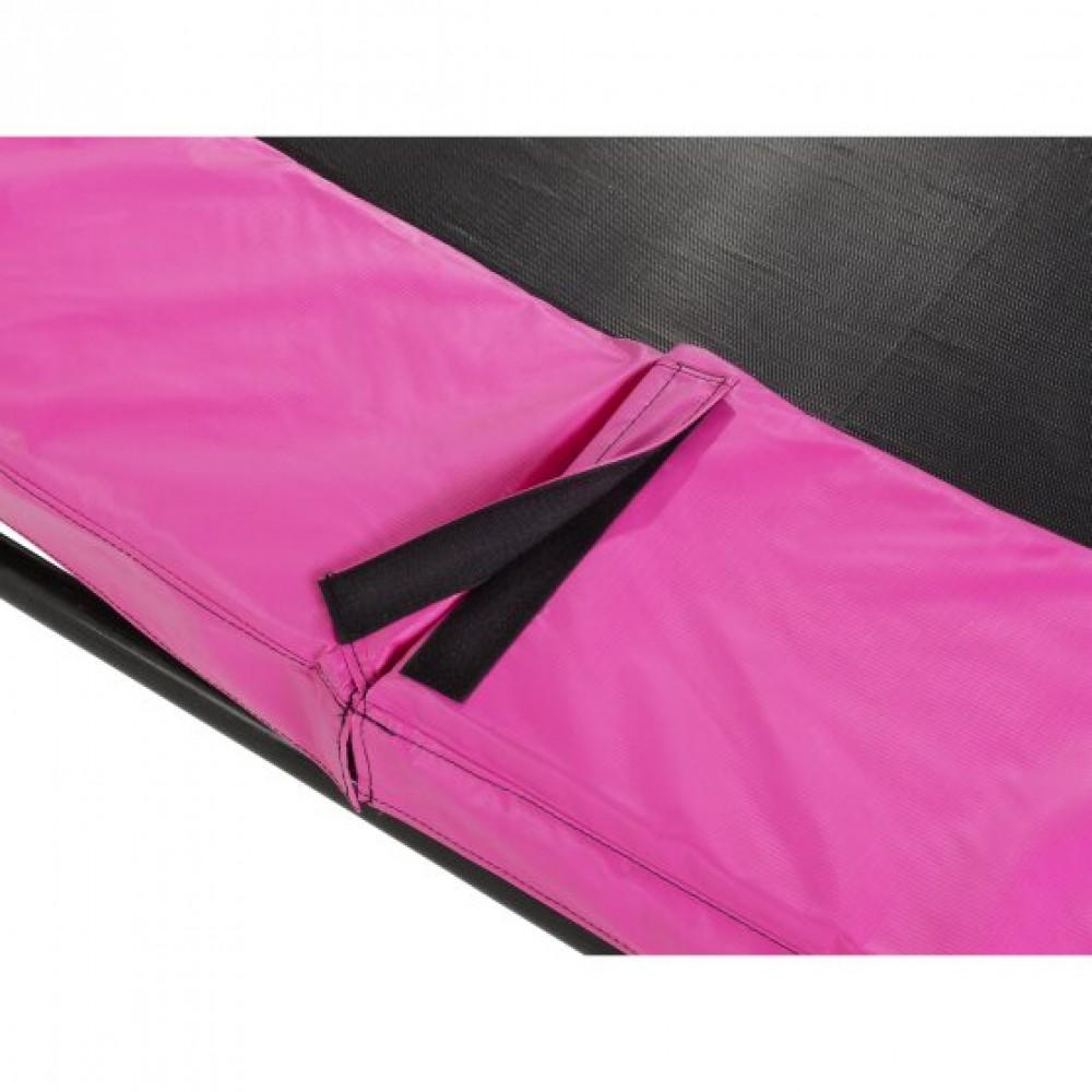 Батут Exit Silhouette Pink 214х305 см з сіткою