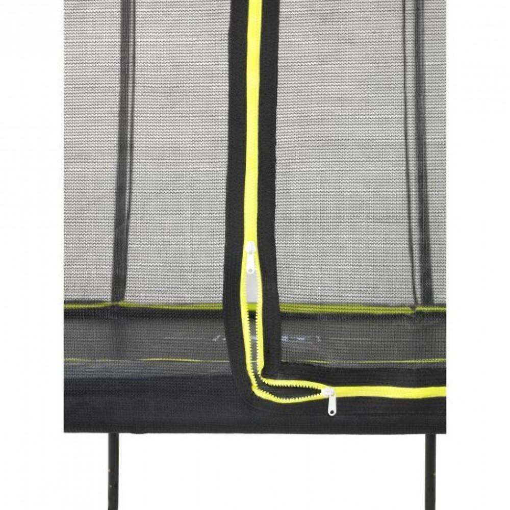 Батут Exit Silhouette Black 214x305 см з сіткою