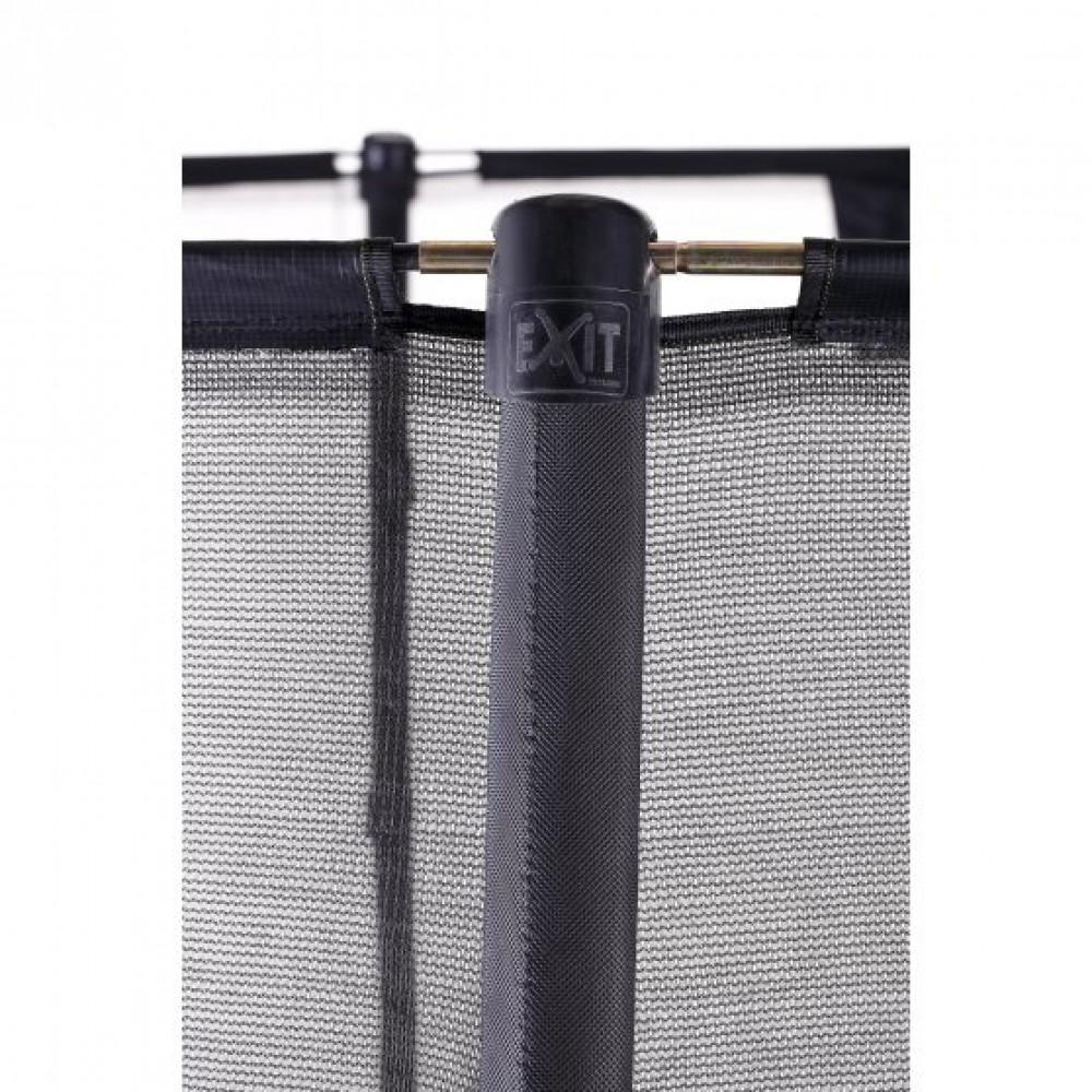 Батут Exit Elegant Premium Black 214x366 см з сіткою Deluxe