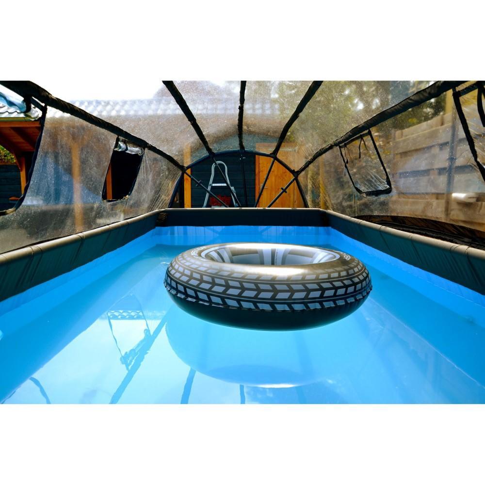 Каркасний басейн Exit Wood 400x200х100 см з пісочним фільтром-насосом, куполом, драбинкою і тепловим насосом