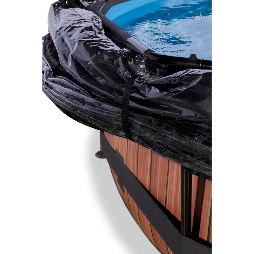 Каркасний басейн Exit Wood 360x76 см з картріджним фільтром-насосом і куполом